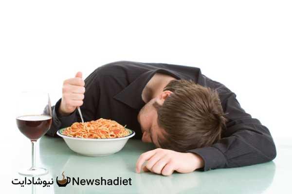عوارض دیر شام خوردن - شکم بزرگ - بزرگ شدن شکم - ورم شکم