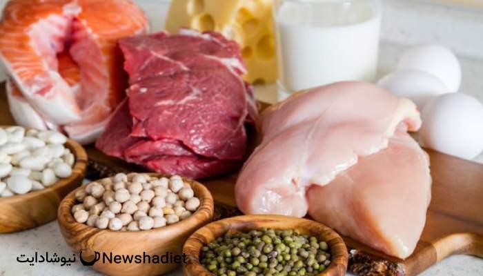 مصرف پروتئین - کاهش وزن - چربی سوزی - حذف چربی بدن